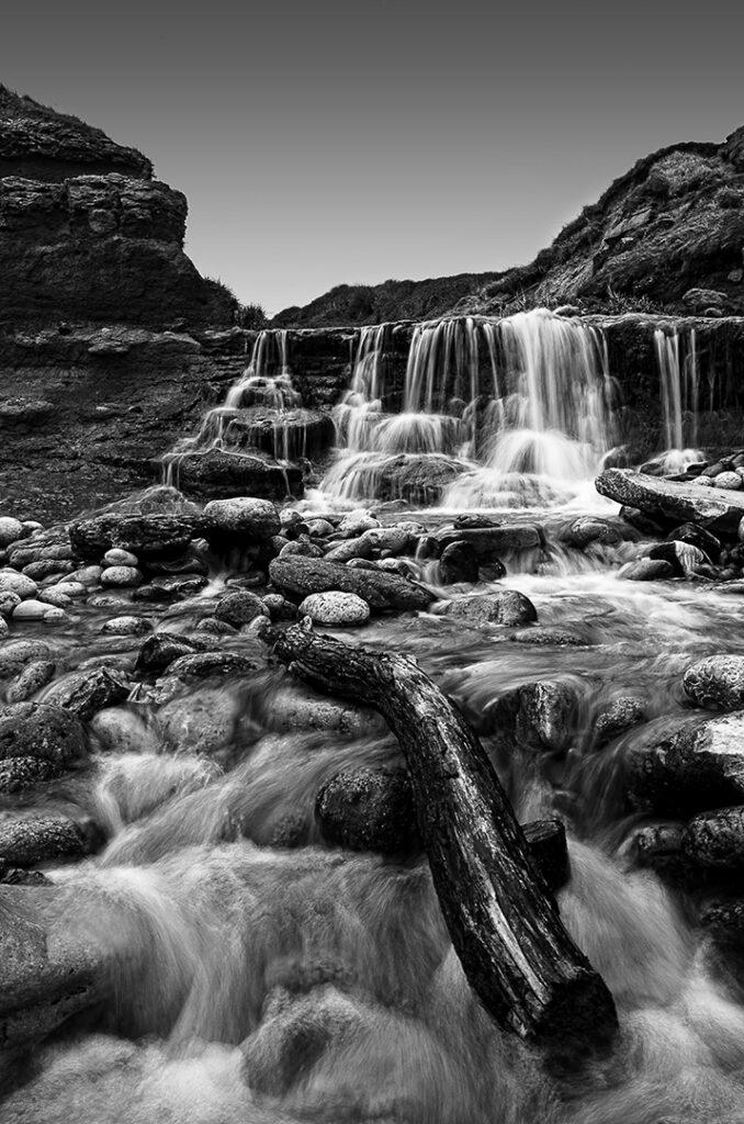 Dorset Beach Waterfall