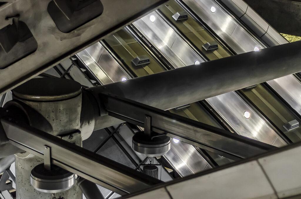 Empty Escalators at Westminster 1