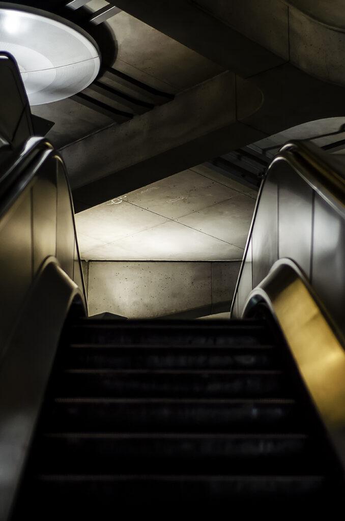 Empty Escalators at Westminster 2