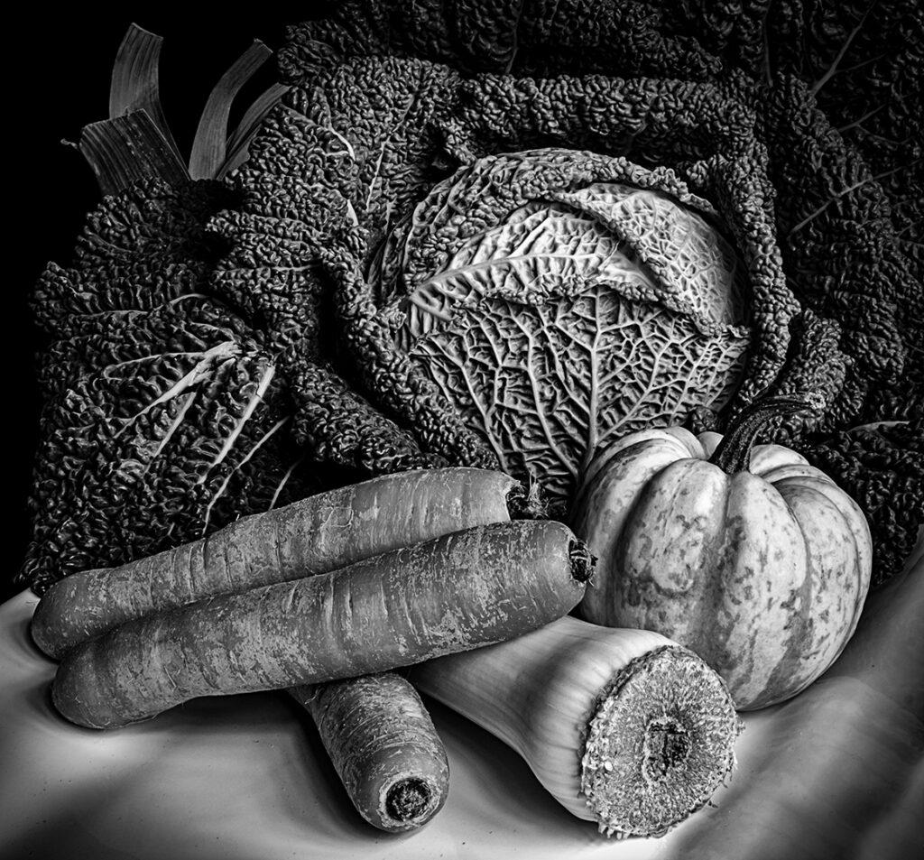 Veggies B&W